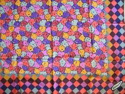 Retro Missoni selyemkendő, sál