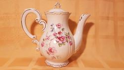 TEGYEN AJÁNLATOT! Zsolnay arany szegélyes porcelán kávékiöntő, hibátlan, pajzspecsétes!