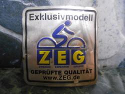 ZEG nyaktábla kerékpár német ALU veterán 4*4 cm