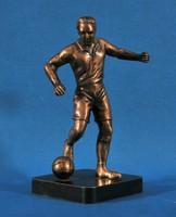 Puskás Ferenc (1927-2006) híres magyar labdarúgó bronz szobra