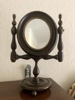 Asztali fa tükör, állítható középső résszel