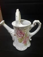 Porcelán rózsás kanna
