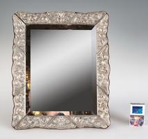 Ezüst keretes asztali tükör