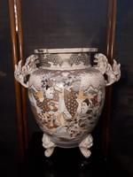 Japán Satsuma váza 19.század
