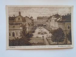 G21.326    Régi képeslap MISKOLC Erzsébet téri  látkép  1920's