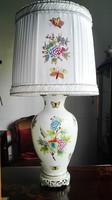 70cm magas Herendi porcelán QueenVictoria lámpa ÚJ szerelékkel