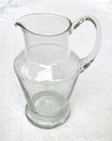 Retro üveg kancsó - üvegkancsó kiöntő