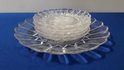 Üveg puttós süteményes készlet
