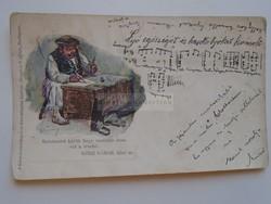 G21.308  Régi képeslap  - GÖRE GÁBOR   biró úr - antik humoros képeslap  Ó-Lubló  1900k