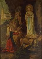 1F373 Európai festő XX. század eleje : Lourdesi Szűz Mária