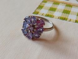 Tanzanit 925 ezüst gyűrű 57