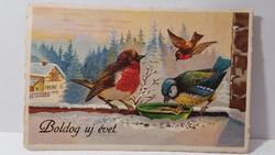 """Régi képeslap """"Boldog Új évet"""" üdvözlőlap, levelezőlap 1931"""
