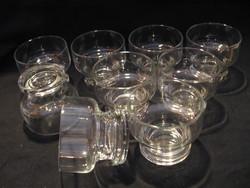 9 db-os skandináv whiskey pohár készlet, mécsestartó