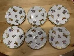 Eredeti Viktória mintás gyönyörű állapotú kis tányér komplett készlet 1 Forintról!!!