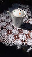 Hollóházi színes pöttyös kávés kiöntő