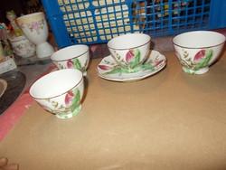 4-drb kávés csésze egy kis tányérkájával.Oblatt jelzéssel