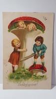 """Régi képeslap """"Boldog Új évet"""" üdvözlőlap, levelezőlap"""
