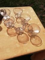 Igazi antik vadász poharak makkos mintájú vastag