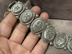Masszív antik ezüst  karperec