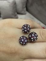 Ezüst 925 gyönyörű gyűrű állítható