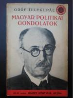 Gróf Teleki Pál: Magyar politikai gondolatok (1941)