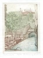 Rékassy Eszter - Velence III. 16 x 11 cm rézkarc, papír