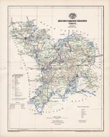 Jász - Nagykun - Szolnok vármegye térkép 1894 (3), lexikon melléklet, Gönczy Pál, 23 x 29 cm, megye