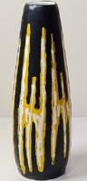 Iparművészeti - retró, kerámia szivar váza /Gorka Lívia jellegű festéssel
