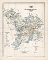 Jász - Nagykun - Szolnok vármegye térkép 1894 (4), lexikon melléklet, Gönczy Pál, 23 x 29 cm, megye