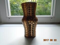 Arany virágos bőrrel bevont terrakotta spanyol váza