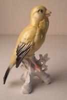 ENS porcelán kanári, madár szobor