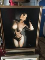 Ádám Éva akt kép ,festmény
