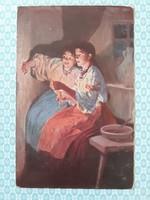 Régi képeslap Nikolay Pimonenko árnyékok művészi levelezőlap