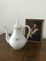 Hibátlan nagyméretű antik porcelán teáskanna
