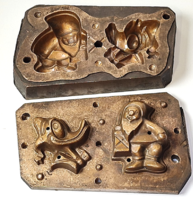 Régi bronz öntőforma