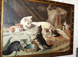 Antik festmény szép  keretben 959
