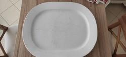 Porcelán pecsenyés/húsos tál, Khély J jelzéssel, márkajelzés nélkül