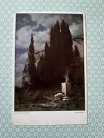 Régi képeslap Rüdisühli az áldozat művészi levelezőlap