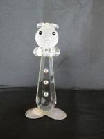 Bohemia art deco üveg bohóc  figura