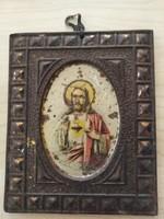 Bádog lapocska - öreg, egyházi dísztárgy