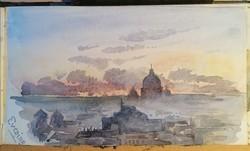 XIX-ik századi Angol festőművész útinaplója olaszországból.