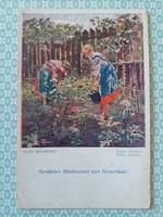 Régi képeslap Hans Hassmann kis kertünk művészi levelezőlap