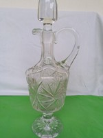 Ólomkristály likőrös üveg