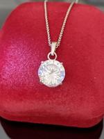 Mesés ezüst nyaklánc és Medál nagy cirkónia kővel