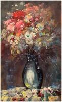 Virágok, olajfestmény, saját alkotás,