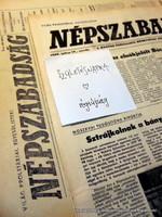 1975 augusztus 6  /  NÉPSZABADSÁG  /  E R E D E T I, R É G I Újságok /regiujsagok/ Ssz.:  12203
