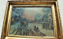 Rudnay Gyula /1878-1957/ festőművész alkotása.40x60-s olajvászon. Eredeti antik keretében.