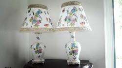 60cm-es Herendi porcelán QueenVictoria lámpa pár új szerelékkel