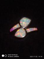 White Opál ezüst gyűrű /54/