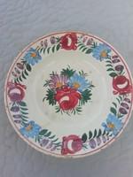 Antik Apátfalvi virágmintás falitányér, falidísz